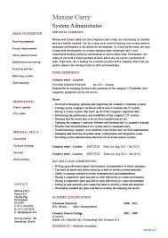 Citrix Administrator Resume Sample by System Administrator Job Description System Administrator Job