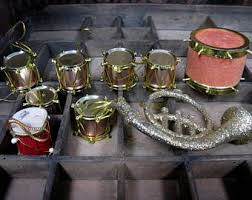 vintage ornaments musical instruments