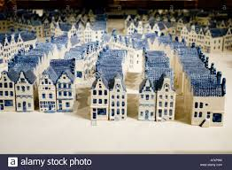small porcelain models of amsterdam houses exhibition in artis