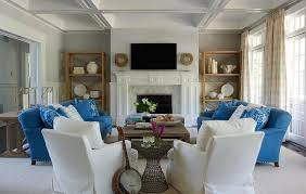 Blue And White Accent Chair Brown Skirted Sofas And Gray Accent Chairs Transitional Living