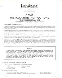 heatiator indoor fireplace bf36a user guide manualsonline com