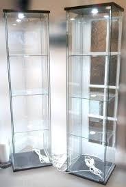 ikea glass display cabinet elegant glass display cabinet light kitchen lighting ideas elegant