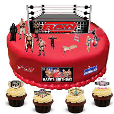 Edible Cake Decorating Paper Wwe Wrestling Happy Birthday Stand Up Scene Premium Edible Wafer