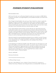 student recommendation letter sample from teacher huanyii com