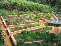 not your typical rectangular raised beds like this idea garden