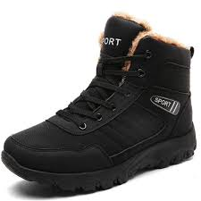 uexia new winter men snow boots warm fur u0026plush lace up high top