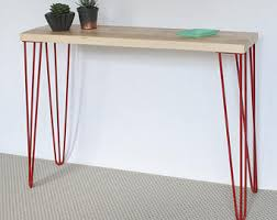 hairpin leg console table francis console table hairpin legs industrial copper