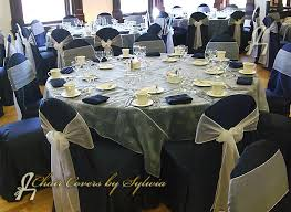 Silver Chair Covers Chicago Chair Covers For Rental In Midnight Blue In The Lamour