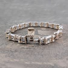 solid sterling silver bracelet images Mens silver bike chain bracelet jpg