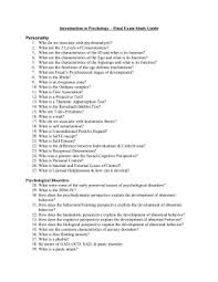 introduction to psychology u2013 test 4 study guide chapter 8