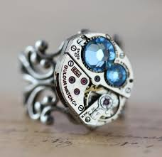 unique mothers rings mothers ring birthstone ring custom made steunk barrel