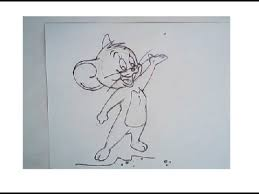 how to draw jerry from tom and jerry cartoon drawing step by step