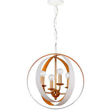 White Small Chandelier Two Tone Sphere Chandelier Small Shades Of Light
