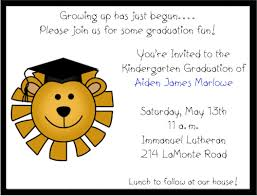 kindergarten graduation invitations lion preschoolkindergarten graduation invitations