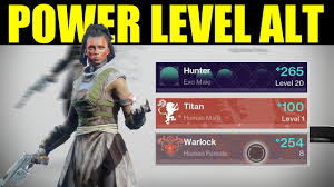 destiny 2 highest light level destiny 2 how to power level an alternate character tips tricks