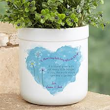 personalized flower pot personalized outdoor flower pot a s hug