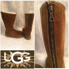ugg shoes australia brown boots poshmark 66 ugg shoes ugg australia knightsbridge boot w zip sz 8