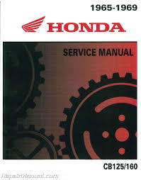 honda 1965 1969 cb125 cb160 motorcycle service manual