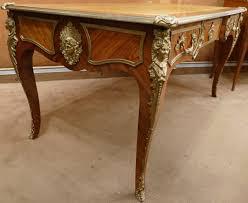 bureau ancien en bois le marché biron bureau plat ancien de style louis xv en bois de