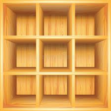 Wooden Bookshelf Wooden Bookshelf Vector Background Stock Photography Image