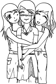 three best friends coloring page wecoloringpage
