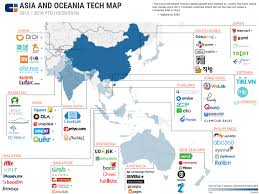 Pacific Region Map The Most Well Funded Tech Startups In Asia And The Pacific