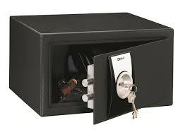 coffre fort bureau reskal sm 1 coffre fort à clé acier noir coffres forts
