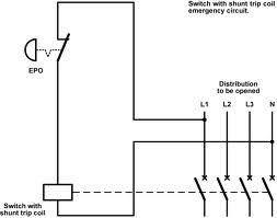 circuit breaker shunt trip wiring diagram circuit breaker shunt