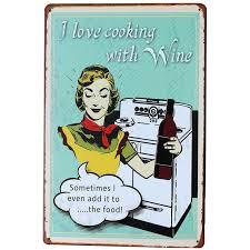j aime cuisiner j aime cuisiner avec vin plaque conseil rétro alcool plaque pour mun