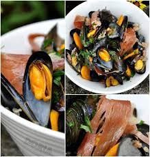 cuisiner l ail moules de bouchot à l ail au jambon serrano recettes à cuisiner