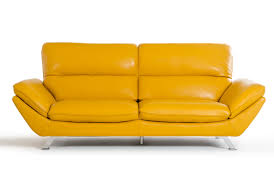 Modern Yellow Sofa Divani Casa Daffodil Modern Yellow Italian Leather Sofa Set
