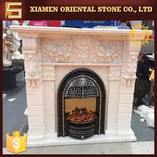 natural marble fireplace of roman style marble fireplace mantel