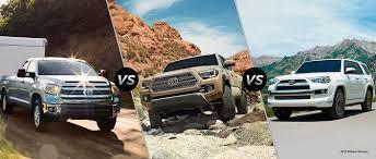 toyota tacoma vs tundra toyota trd off road trucks suvs 2017 tundra 2017 tacoma 2016 4runner