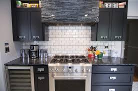 Black Subway Tile Kitchen Backsplash White 4
