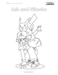 ash and pikachu coloring page teaching squared