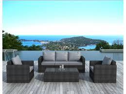 canapé de jardin en résine salon jardin resine gris royal sofa idée de canapé et meuble