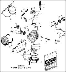 dellorto sha14 sha15 and sha16 carburetor parts