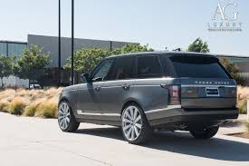 silver range rover ag luxury wheels land rover range rover forged wheels