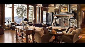 luxury log cabin living room on home design furniture decorating