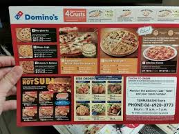 domino cuisine domino s pizza menu included in you want to try out the local