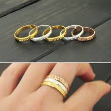 personalized stackable rings personalized plain ring sted rings stacking rings