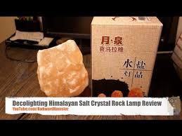 decolighting himalayan salt crystal rock lamp review youtube