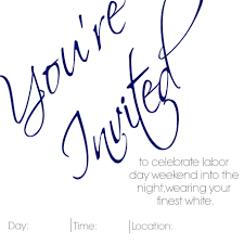free printable labor day white party invitation by