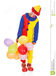 clown balloon l sad joker with balloons royalty free stock photos image 34960838