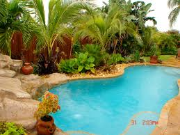 pool landscaping by construction landscape creating your own paradise