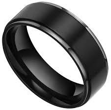 black mens wedding bands 15 best ideas of black wedding bands