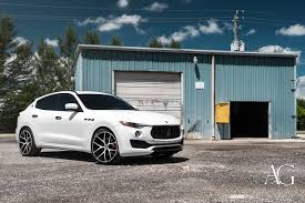 maserati levante white ag luxury wheels maserati levante forged wheels