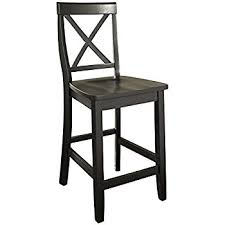 24 Inch Bar Stools With Back Amazon Com Crosley Furniture X Back 24 Inch Bar Stool Black