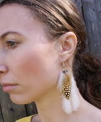 one feather earring feather earrings diy bohemian mint