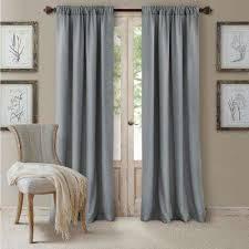 Gray Window Curtains Rod Pocket Curtains U0026 Drapes Window Treatments The Home Depot